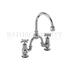 Claremont Two tap hole arch mixer with curved spout (200mm centres)