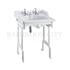 Classic Basin for Integrated Waste & Overflow 65cm 2TH and White Aluminium Basin Stand