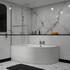 modern acrylic quality modern acrylic quality Clia Left Hand Corner Bath, Panel And Screen