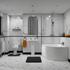 Clia legend Bathroom suite LH Contemporary