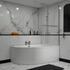 modern acrylic quality modern acrylic quality Clia RH Corner Bath, Panel And Screen