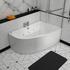 Clia Right Hand Whirlpool Bath - Corner Jacuzzi Bath