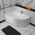 Clia Left Hand Whirlpool Bath & Panel Corner Jacuzzi Bath