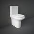 Compact Deluxe Close Coupled Toilet & Seat (Rimless) curved