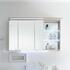 Contea Bathroom Mirror Cabinet 3 Double-Mirrored Doors with Illuminated Canopy and Power Outlet