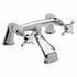 Modern CHROME Bath Taps With a featured spout And a cross head Handle