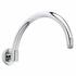 C/p Curved Wall Mounted Shower Arm, Round Head
