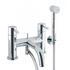 quality Modern CHROME standard bath mixer tap with shower attachement lever Handle