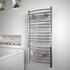 Diva Curved Designer Radiator Contemporary Bathroom Curved Towel Rail