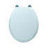 Drift Solid Wood Toilet Seat with Soft Close Hinge Chrome - 14961