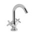 Modern quality CHROME spout Basin tap With a cross head Handle