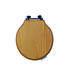 Etoile Solid Wood Toilet Seat with Soft Close Hinge Polished Nickel Finish - 15018