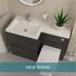 Product Image for New Polymarble L-shaped Basin 1100mm