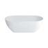 Formoso Grande Freestanding Modern Clear Stone White Bath