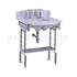 Georgian Marble basin washstand Aluminium with Splash backs - 178074