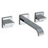 Geo 3 Hole Basin Mixer Bathroom knob spout Taps