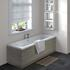 Grey Avola Straight Bath End Panel & Plinth 700