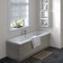 Grey Avola Straight Bath End Panel & Plinth 750