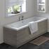 Grey Avola Straight Bath Side Panel & Plinth 1700