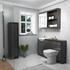 Hacienda 1500 Bathroom Fitted Furniture Pack Grey Ellegant