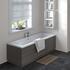 Hacienda Black Straight Bath End Panel & Plinth 750