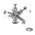 Kensington Basin Mixer , with cross head handles,with high central indice with pop up waste