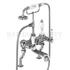 Kensington Bath shower mixer deck mounted with 'S' adjuster with cross head Handle