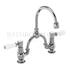 Kensington Two tap hole arch mixer black indice with curved spout (250mm centres)
