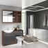 Lucido L Shape Furniture Suite Grey Shower Bath Modern Designer Ellegant
