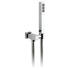 Mix Single Function Mini Shower Kit With Integrated Outlet And Bracket Wall Mounted, Rectangle Head