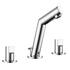 Modern stunning CHROME standard Twin Basin Taps (Pairs of taps) With a knob Handle