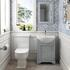 Old England 55 Dove grey Cloak room Bathroom Suite - 179000