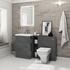 Patello 1400 Vanity Bathroom Furniture Set Grey Contemporary