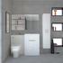 Patello Bathrooom Furniture Suite with Mirror cabinet and shelf Storage High Quality Bathroom