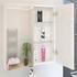 PATELLO WHITE 2 DOOR MIRROR CABINET GLASS SHELVES Modern double