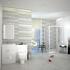 PATELLO WHITE COMBI VANITY TOILET AND SHOWER SLIDING DOOR ENCLOSURE Bathroom SUITE Fashionable