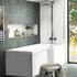 modern acrylic Patello white L Shaped Shower Bath Right Hand