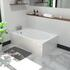 small 1200 white bath