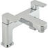sheek Modern CHROME 2 Hole Bath filler Tap  With a featured Standard spout And a lever Handle