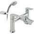 inspirational Modern CHROME standard Bath Shower Mixer Taps lever Handle