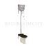 Traditional Regal High level toilet pan with Brushed Aluminium cistern and flush kit