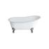 Romano Grande free standing slipper bath Large Claw foot (Chrome) Contemporary Bathroom