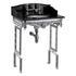 Sarah Basin Black And polished Under Basin Aluminium Wash Stand Modern
