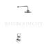 round Severn Thermostatic Single Outlet Concealed Shower Valve with Fixed Shower Arm (6 inch Shower Head) single function