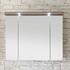 Solitaire 6005 Illuminated Mirror Cabinet 3 Door with Canopy