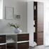 Solitaire 6010 Bathroom Shelf Unit 2 Revolving Doors with 5 Open Shelves