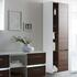 Solitaire 6010 Bathroom Shelf Unit 2 Revolving Doors with 5 Open Shelves