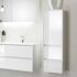 Solitaire 6010 Wall Hung Bathroom Cabinet 1 Revolving Door 2 Drawers