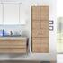 Solitaire 6025 Bathroom Tall boy  2 open shelf doors 1 drawer, 2 laundry baskets - 178369