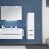 Solitaire 6025 Bathroom medium Storage Unit 1 open shelf doors 2 drawers - 178371